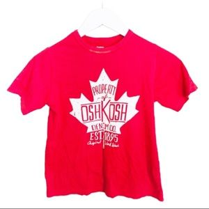 OSH KOSH Canada Print Tee/Top Red Boys Age 8Y